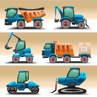 Ilustracja sprzętu drogowego