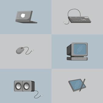 Ilustracja sprzętu projektanta graficznego