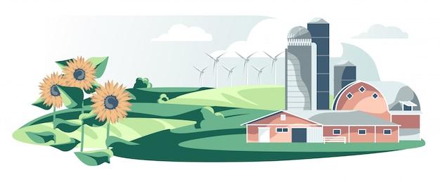 Ilustracja sprzętu rolniczego