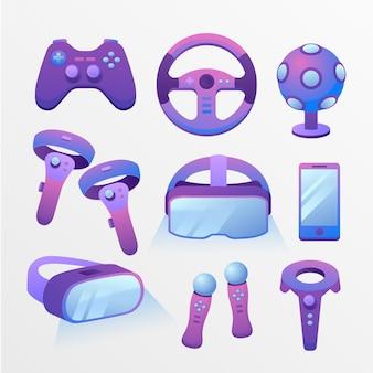 Ilustracja sprzętu rzeczywistości wirtualnej