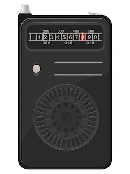 Ilustracja starego przenośnego radia
