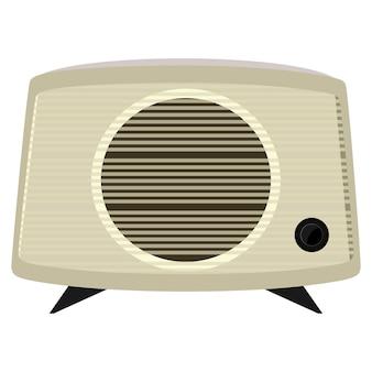 Ilustracja starego radia w plastikowej skrzynce