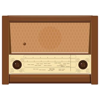 Ilustracja starego radia