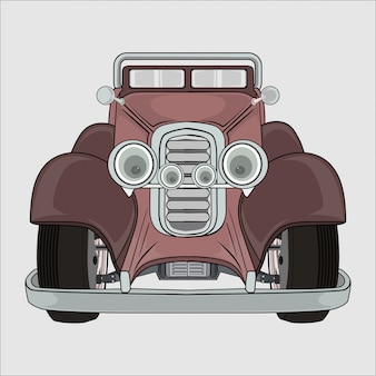 Ilustracja starego samochodu retro