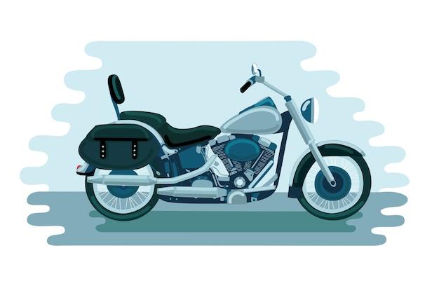 Ilustracja starej szkoły amerykański motocykl