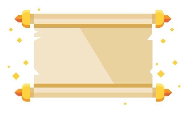 Ilustracja starożytnego papieru przewijania.