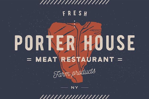 Ilustracja steakhouse