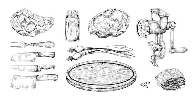 Ilustracja stek mięsny