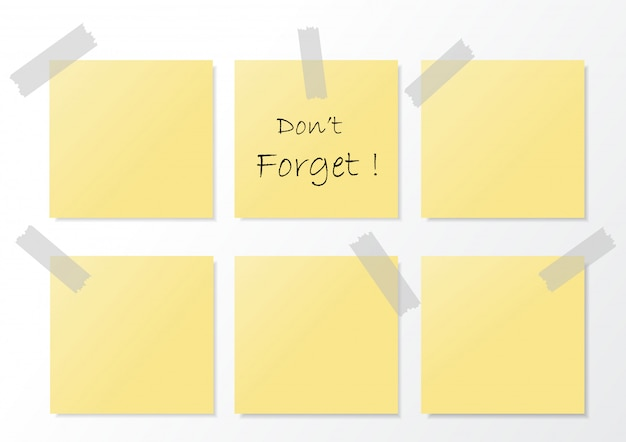 Ilustracja sticky note.vector.