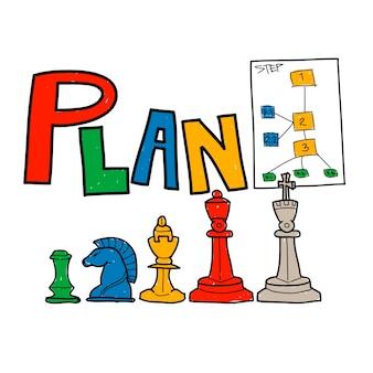 Ilustracja strategii biznesowej