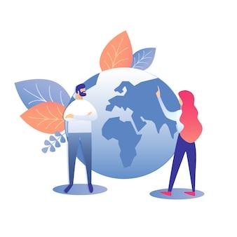 Ilustracja strategii globalnego rozwoju biznesu