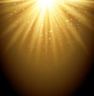 Ilustracja streszczenie magiczne światło tła z gwiazdą