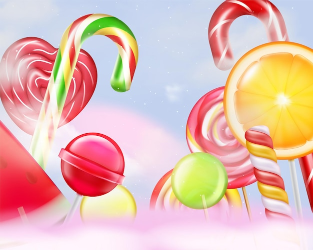 Ilustracja stripped lollypops