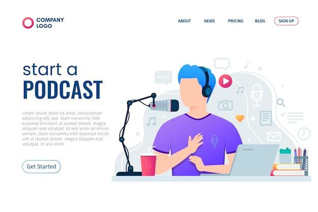 Ilustracja strony docelowej podcastu