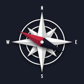 Ilustracja strzałka kompasu
