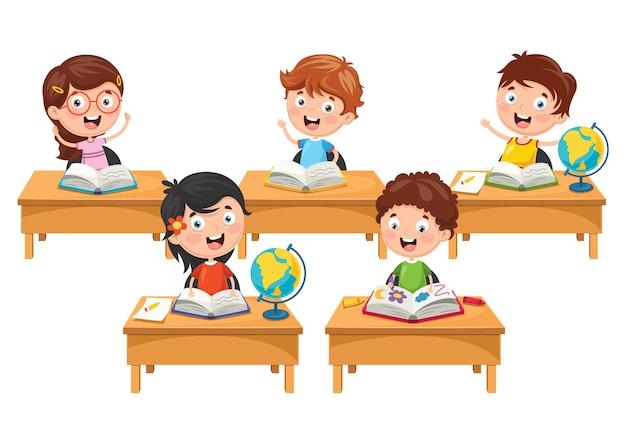 Ilustracja studentów