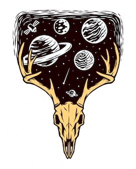Ilustracja stworzenia wszechświata