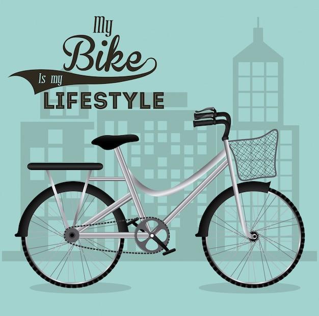 Ilustracja styl życia roweru