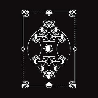 Ilustracja sun moon ornament