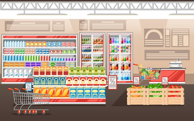 Ilustracja supermarketu