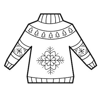 Ilustracja swetra do kolorowania
