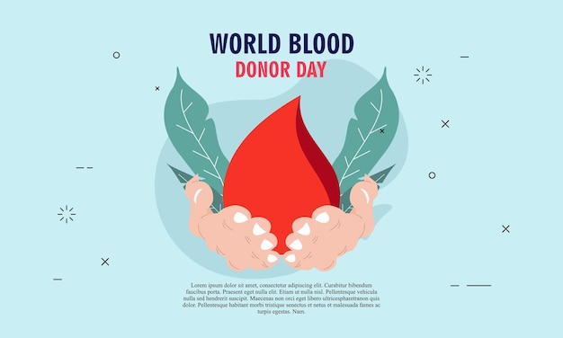 Ilustracja światowego dnia dawcy krwi ilustracja dawcy krwi