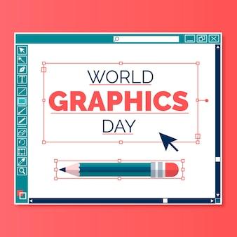 Ilustracja światowego dnia grafiki