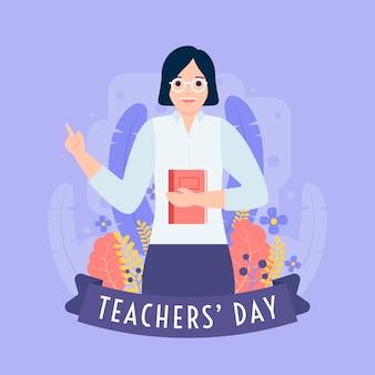 Ilustracja światowego dnia nauczyciela