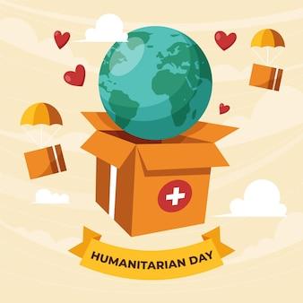 Ilustracja światowego Dnia Pomocy Humanitarnej Darmowych Wektorów
