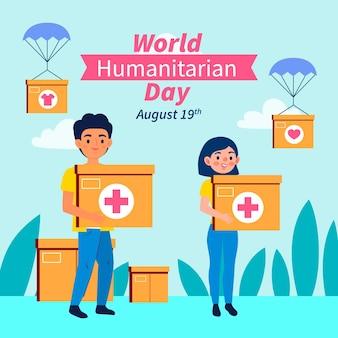 Ilustracja światowego dnia pomocy humanitarnej