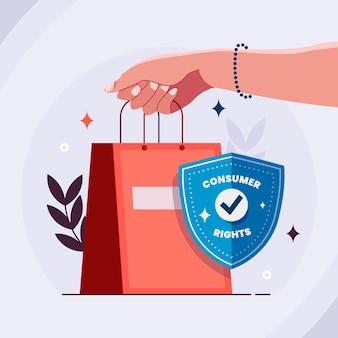 Ilustracja światowego dnia praw konsumentów