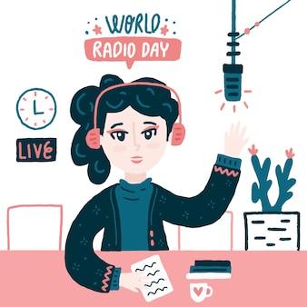 Ilustracja światowego dnia radia
