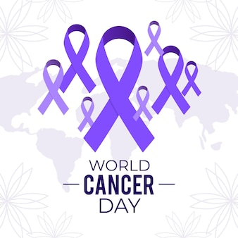 Ilustracja światowego dnia raka