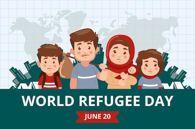 Ilustracja światowego dnia uchodźcy