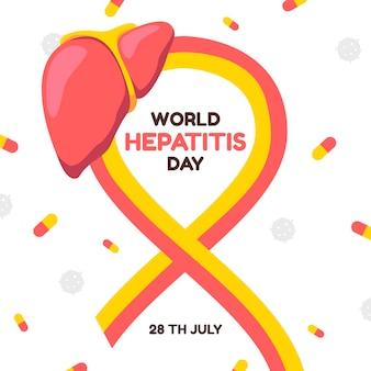 Ilustracja światowego dnia zapalenia wątroby