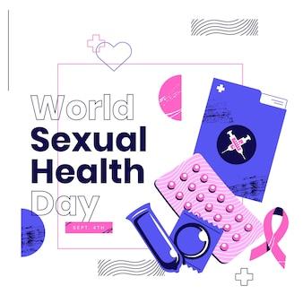 Ilustracja światowego dnia zdrowia seksualnego
