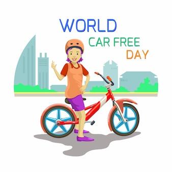 Ilustracja światowy dzień bez samochodu