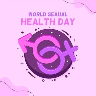 Ilustracja światowy dzień zdrowia seksualnego