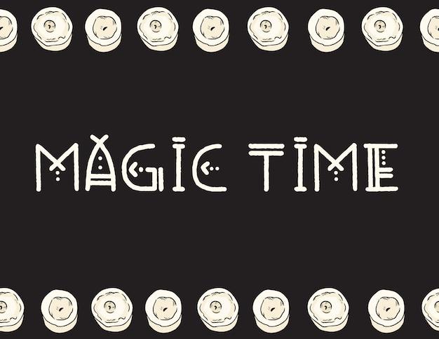Ilustracja świec czas magiczny