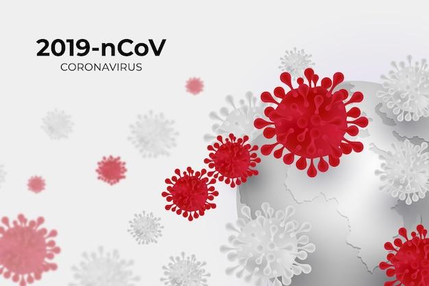 Ilustracja świecie koronawirusa