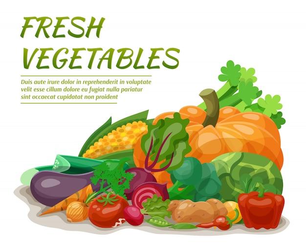 Ilustracja świeżych warzyw