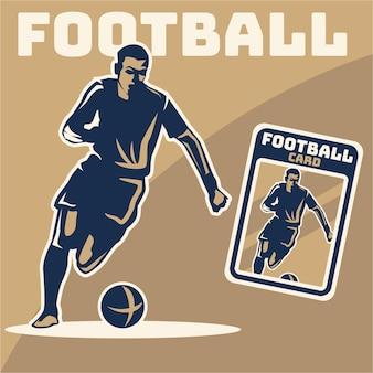 Ilustracja sylwetka piłkarza