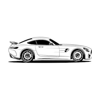 Ilustracja sylwetka samochodu