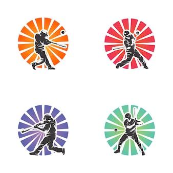 Ilustracja sylwetka umiejętności baseballu