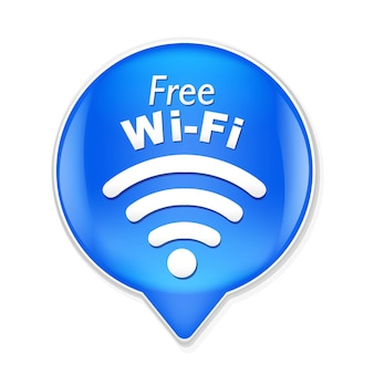 Ilustracja symbol wi-fi na białym tle