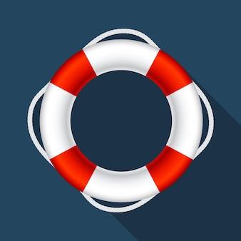 Ilustracja symbolu koła ratunkowego