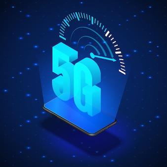 Ilustracja systemów sieci bezprzewodowej 5g