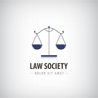 Ilustracja szablon logo firmy prawniczej