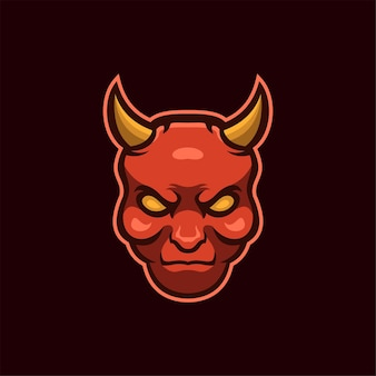 Ilustracja Szablon Logo Głowa Diabła. Gry Z Logo E-sportu Premium Wektor Premium Wektorów
