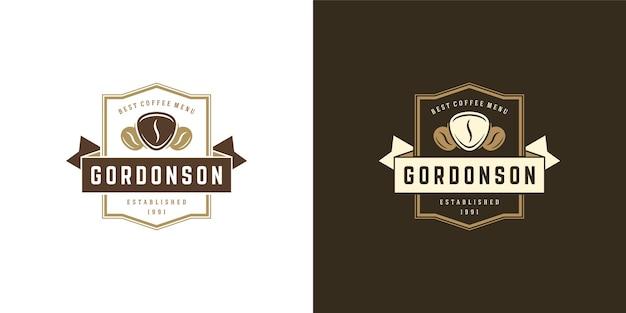 Ilustracja szablon logo kawiarni